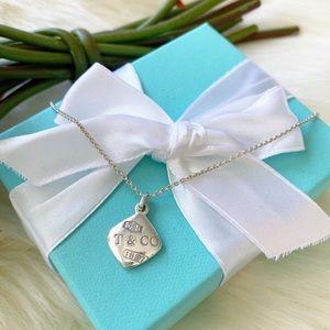 Tiffany & Co. 1837 Square Puff Pendant Necklace